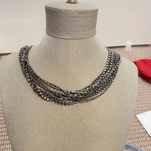 Black and sparkle statement necklace